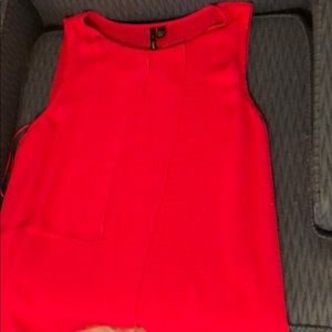Red tank with layers and lining